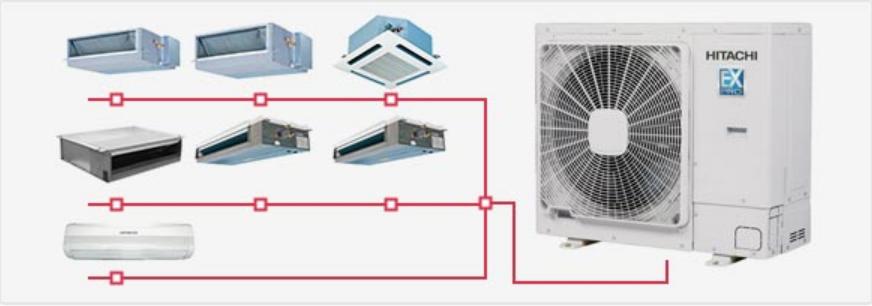 150以上平方日立家用中央空调解决方案