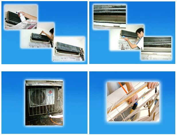 家用中央空调的清洗过程