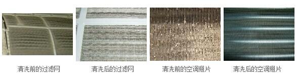 中央空调清洗对比图