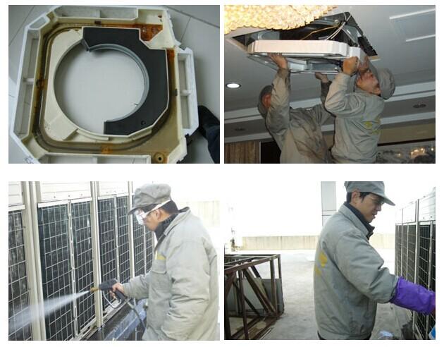 商用中央空调的清洗过程
